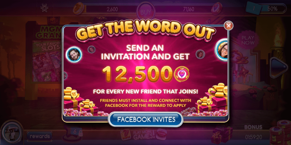 pop slots facebook invite